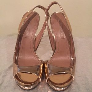 BCBG Rose Gold Heels